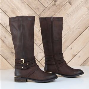 Steve Madden Albany leather boot Malone brown